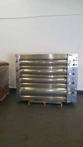Bakers Four 4 Deck Electric Bakery Oven Stainless Steel