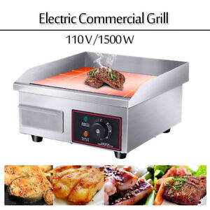 Us Countertop Electric Griddle 14 Restaurant Kitchen Commercial Flat Top Grill