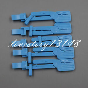5pcs X ray Film Radiograph Holder Clip Supply For Dental Plastic Snap Clamp Blue