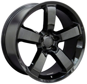 20x9 0 Dodge Charger Srt Replica Rims 5x115 Gloss Black Finish Set Of 4 9360888