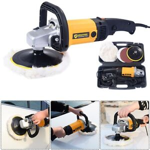 7 Electric Variable Speed Car Waxer Polisher Buffer Detail Boat Grinder Machine