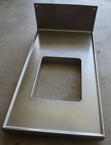 Stainless Steel Counter top Built in Trash Chute Marine Edge Bar Food Service