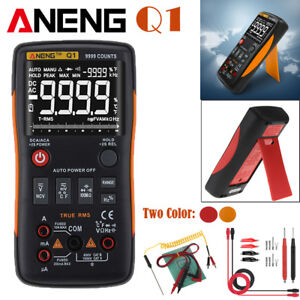 Aneng Q1 True rms Digital Multimeter 9999 Counts W Analog Bar Ac dc Ammeter
