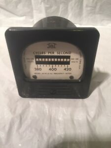 Vintage Nos Jbt Frequency Meter J b t Usa Steampunk Cycles Per Second