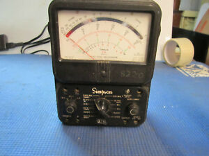 Vintage Simpson Model 270 Series 4 Volt Ohm Meter Tested