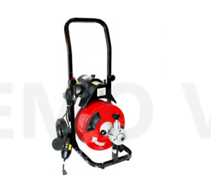 50 1 2 250w Electric Sewer Snake Drain Auger Cleaner With Four Cutter Kits