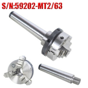 Mini Lathe Chuck Mt2 63mm 3 Jaw Morse Taper Self Centering Chuck For Cnc Machine