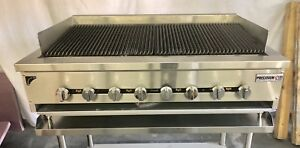 48 Char Broiler Grill 3 Burner Charbroiler Radiant Natural Lp New 4 Heavy Duty
