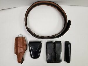 52 Inch Safariland Police security Leather Belt With Safariland aker Accessories
