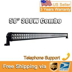 52inch 300w Combo Beam Curved Led Work Light Bar Truck Offroad For Suv Boat Jeep