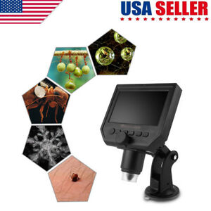Digital Microscope 4 3 Hd Oled 3 6mp 600x Magnification Lcd Portable Amplifier