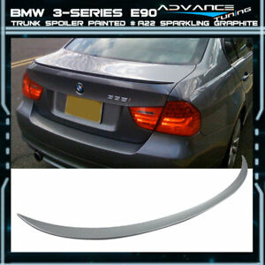 06 11 Bmw 3 series E90 Trunk Spoiler Oem Painted Color A22 Sparkling Graphite