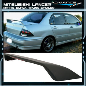 Fits 02 07 Mitsubishi Lancer Oe Factory Matte Black Trunk Spoiler Wing