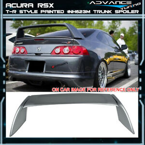 02 06 Rsx Dc5 Type R Painted Abs Trunk Spoiler Satin Silver Metallic Nh623m