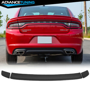 Fits 15 18 Dodge Charger Oe Factory Style 3pc Trunk Spoiler Matte Black Abs