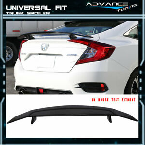 For 2 Post Universal Flush Painted Gloss Black Trunk Spoiler Wing abs