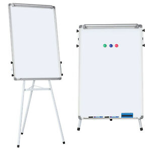 Telescopic Tripod Whiteboard Dry Erase Easel Magnetic Display Board 24 x36