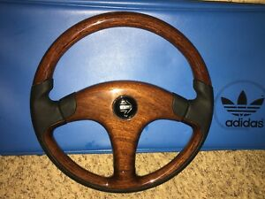 New Momo Wood Steering Wheel W Horn Button Bmw Vw Mercedes Audi