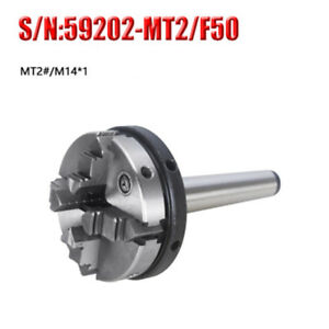 4 Jaw Mini Lathe Chuck 50mm Diameter With Mt 2 Shank For Cnc Drilling Milling
