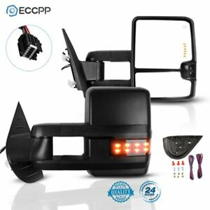 Puddle Light Tow Mirrors Power Heated Signal Clearance Light For 07 13 Chevy Gmc