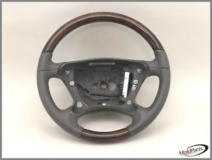 2009 Mercedes Benz E350 W211 Awd 2 Gray Steering Wheel Leather