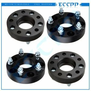 4pc 1 25 Thick 12x1 5 5x4 75 Black Hub Wheel Spacers For 1982 2002 Chevy Camaro