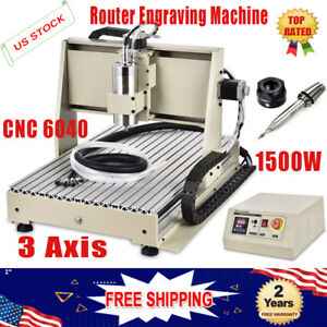 3axis 6040 Cnc Router Engraver 1500w Mill 3d Wood Metal Diy Carving Cutter Mach3