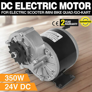 350w Dc Electric Motor 24v 3000rpm Gear Ratio 9 7 1 Go kart 1 2 Inch Pitch