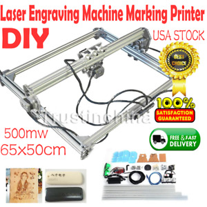 Diy Laser Engraving Machine Logo Marking Printer Engraver Kit 500mw 65x50cm Fast