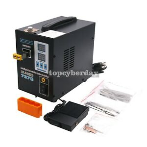 737g Spot Welder 1 5kw Led Welding Machine No Pen For 18650 Battery 110v 220v