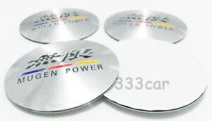 56mm Mugen Wheel Center Cap Badge Sticker Emblem Decal For Accord Civic Fit City