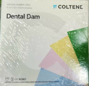 Coltene Whaledent Dental Dam Sheets size 6x6