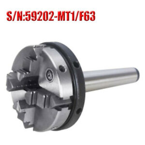 Mt1 4 Jaw Mini Lathe Chuck 63mm Diameter Self Centering With Mt 1 Shank For Cnc