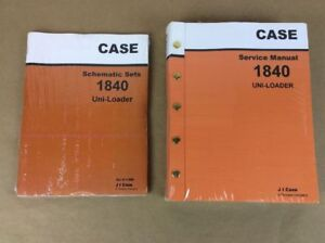 Two Case 1840 Uni loader Skid Steer Service Repair Manual Schematic Shop Loader