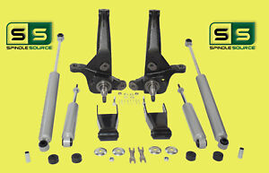 2001 2010 Ford Ranger 2wd 4 1 2 Lift Kit Spindles Rear Shackles 4 Shocks