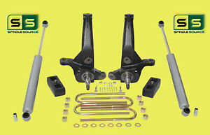 2001 2010 Ford Ranger 2wd 4 2 Lift Kit Spindles lift Blocks 2 Rear Shocks