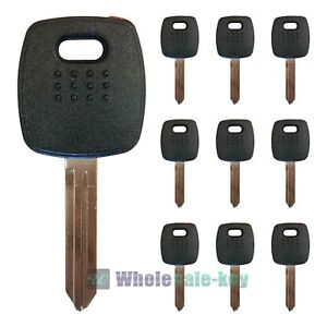 10x New Replacement Transponder Chipped 4d60 Ignition Key For Nissan Infiniti