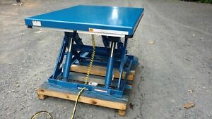 Electric Hydraulic Scissor Lift Table 3 500 Lb Capacity 60 X 48 Table