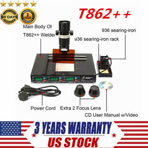 110v T862 Infrared Irda Welder Bga Heating Rework Desoldering Station Xbox