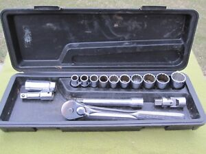 Craftsman Vv Series 1 2 Drive Socket Set 12 Point Ratchet Classic Case V