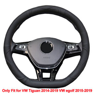Car Steering Wheel Cover Cow Leather For Vw Tiguan 2014 2018 Vw Egolf 2015 2018