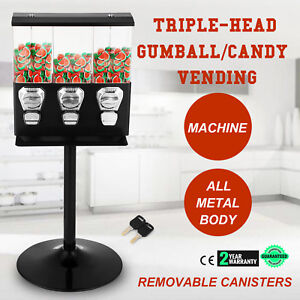 Triple Bulk Candy Vending Machine Adjustable Selectivend Small Capsules Hot