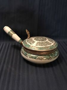 Vintage Porcelain Hand Painted Silent Butler Very Ornate Beautiful Piece