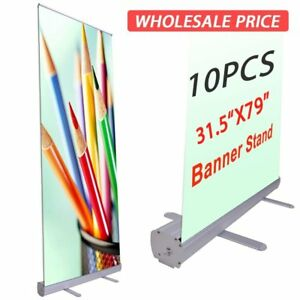 31 5x79 Retractable Banner Stand Roll Up Pop Up Trade Show Display 10 Pack