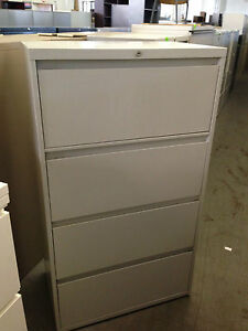 4 Drawer 30 w Lateral Size File Cabinet By Steelcase Office Furn W lock