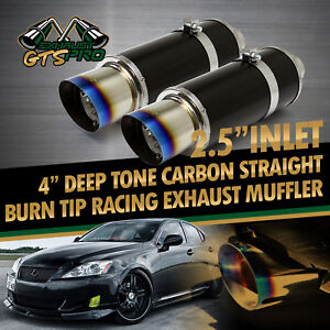 Tracker Performance 2x N1 Style Throaty Loud Carbon Fiber Exhaust Muffler tip