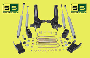 01 10 Ford Ranger 2wd 4 4 Lift Kit Spindles blocks 4 Shocks shackles 4