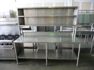 Used Stainless Steel Table 8 X 28 5