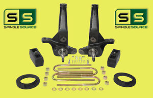 2001 2010 Ford Ranger 2wd 5 3 Lift Kit Spindles Coil Spacer Rear Blocks