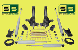 01 10 Ford Ranger 2wd 5 3 Lift Kit Spindles blocks shackles fr Spacer 4 Shocks